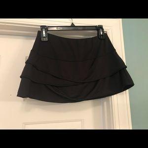 Lucky in Love black tiered tennis skirt medium
